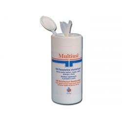 Fazzolettini disinfettanti multiuso in barattolo da 100 strappi - 36625